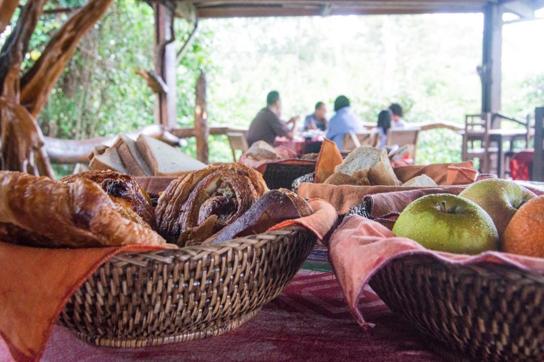 Breakfast Pongara Lodge Gabon