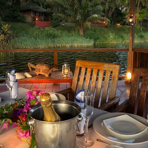 Loango Lodge Restaurant View Gabon