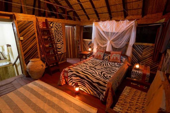 Traditionally decorated bedroom Zikomo Zambia
