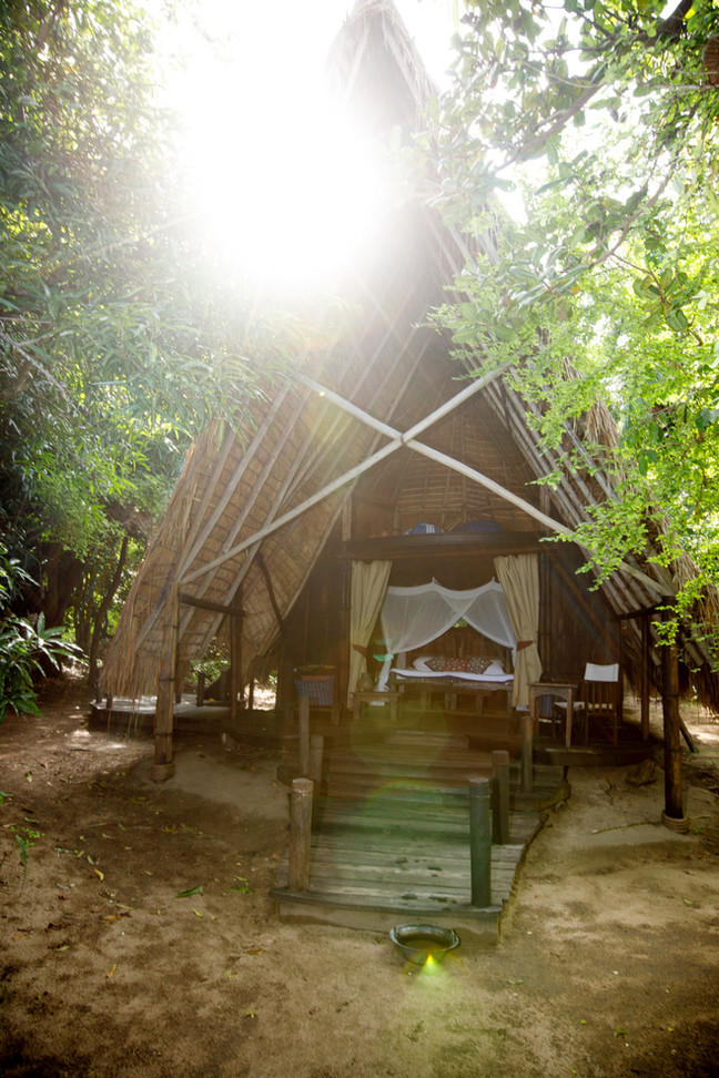 Bandas Beautifully Nestled in the Forest at the edge of the Lake in Greystokes, Mahale, Tanzania