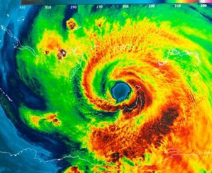Geocolor Image in the eye of Hurricane I