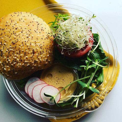 Burger aux champignons