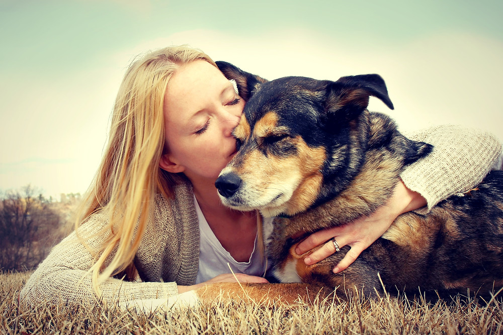 Woman Tenderly Hugging And Kissing Pet Dog.jpg
