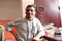 Abdsalam in his shop.