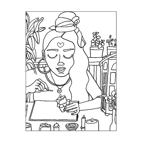 """""""See the Light"""" COLORING Card"""