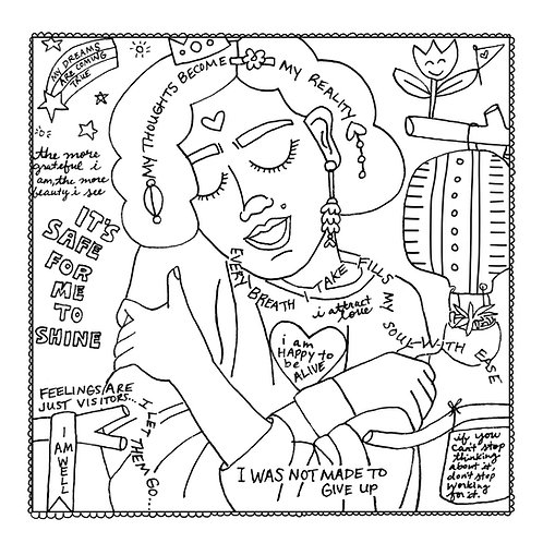 """Love You"" Coloring Page"