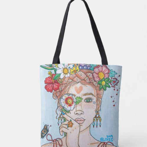 """""""Mother Nature"""" Canvas Tote"""