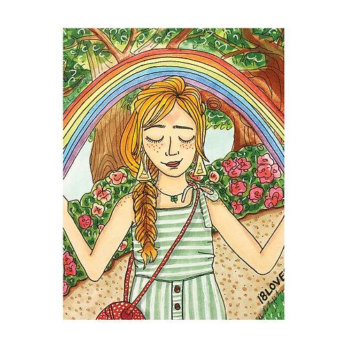 """Beginning of the Rainbow"" Greeting Card"