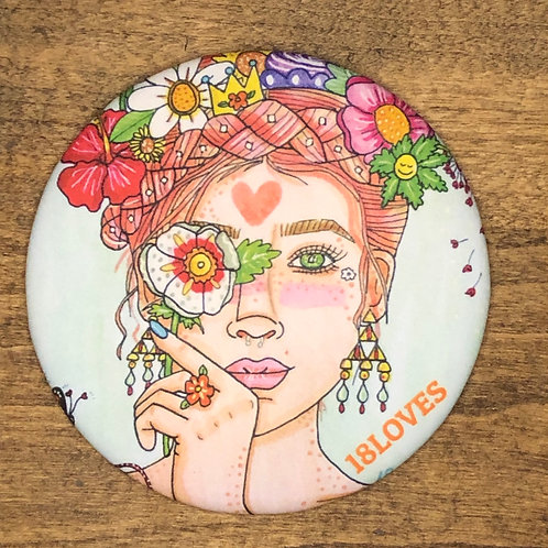"""Mother Nature"" Circle Magnet"