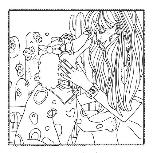 """""""Pawsitive Thoughts"""" Coloring Page"""