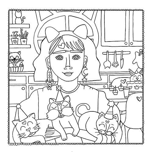 """""""Celebrate"""" Coloring Page"""
