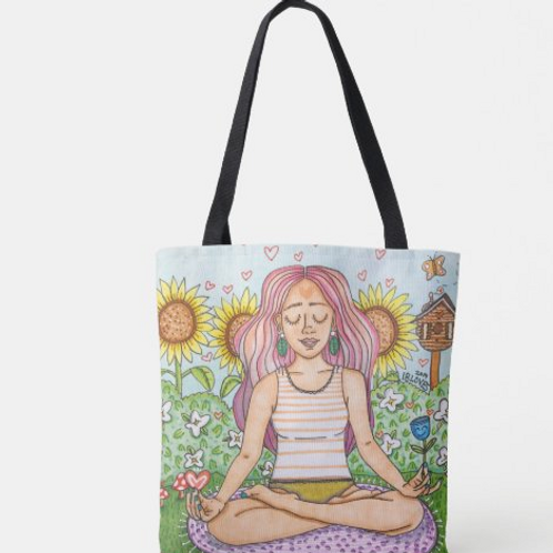 """""""Happy Place"""" Canvas Tote"""