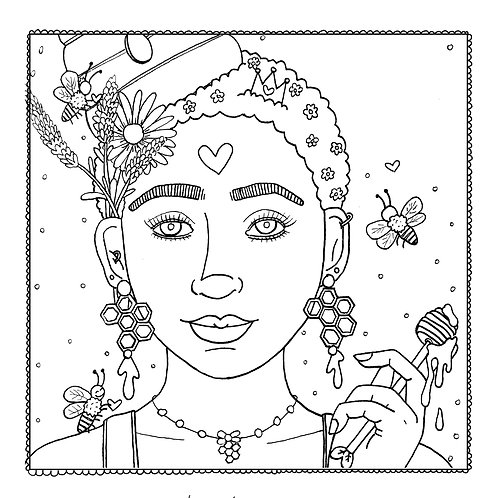 """Bee the Keeper"" Coloring Page"