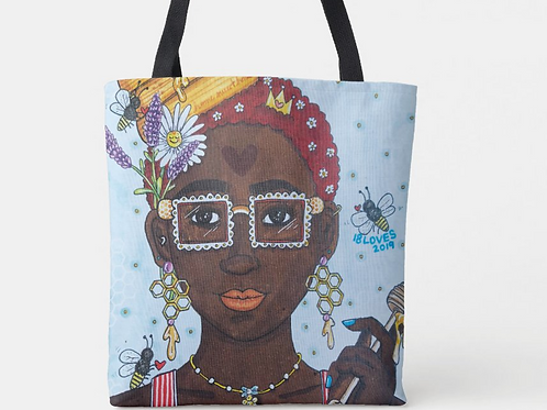 """""""Bee the Keeper"""" Canvas Tote"""
