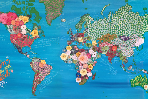 Bloom Where You Are Planted - World Map