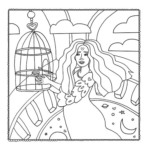 """Let It Go"" Coloring Page"