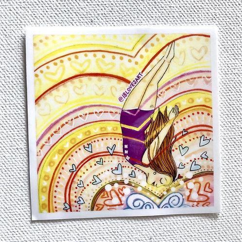 """""""Leap of Faith"""" Sticker"""