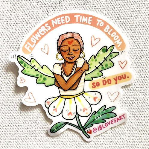 """""""Time to Bloom"""" Sticker"""