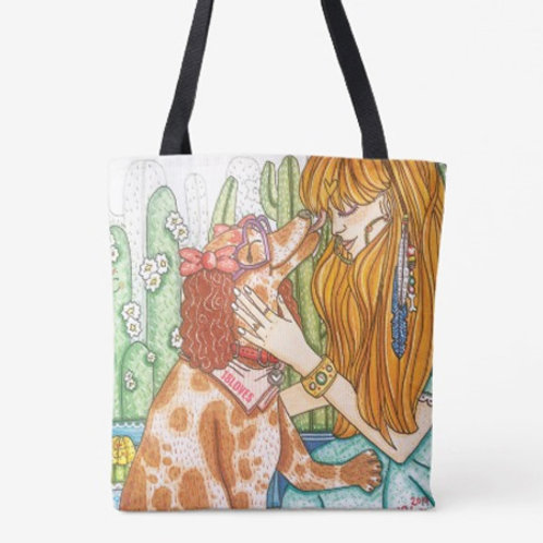 """""""Pawsitive Thoughts"""" Canvas Tote"""