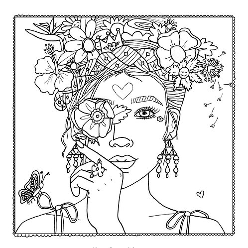 """Mother Nature"" Coloring Page"