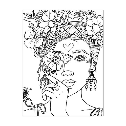 """""""Mother Nature"""" COLORING Card"""