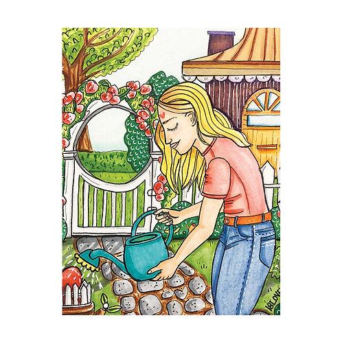 """The Gardener"" Greeting Card"