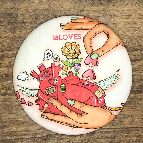"""The Heart"" Circle Magnet"