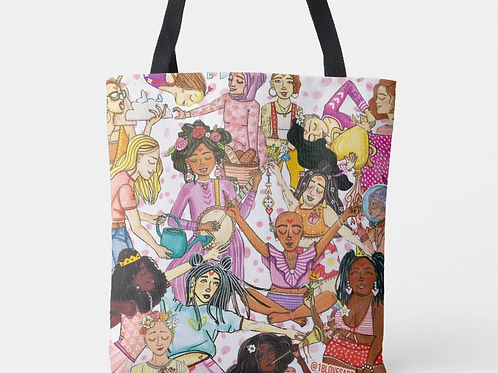 """""""Here's to Strong Women"""" Tote"""