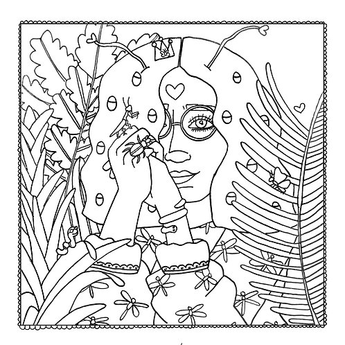 """""""Lady Bug"""" Coloring Page"""