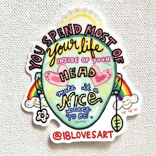 """In Your Head"" Sticker"