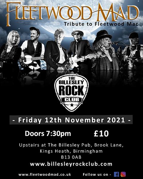Fleetwood Mad The Billesley Rock Club