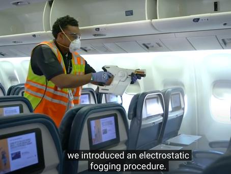Retrouvez en vidéo les mesures sanitaires prises par les compagnies aériennes