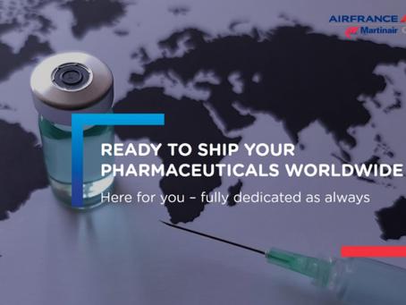 Air France KLM Martinair Cargo prêt à relever le défi de la distribution des Vaccins COVID-19