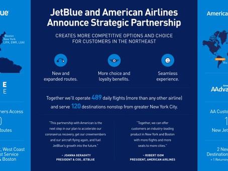 Partenariat Stratégique entre jetBlue et American Airlines