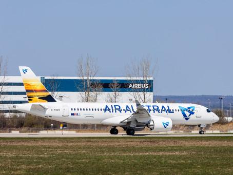 Air Austral reçoit son premier Airbus A220