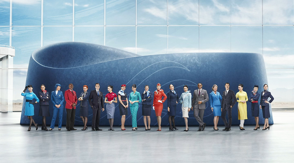 crew members of the 19 airlines of Skyteam - Gate7