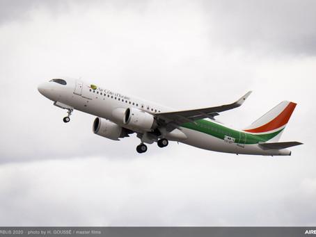 Air Côte d'Ivoire reçoit son premier Airbus A320neo