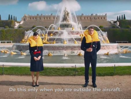 Découvrez les coulisses du film des consignes de sécurité d'Air France