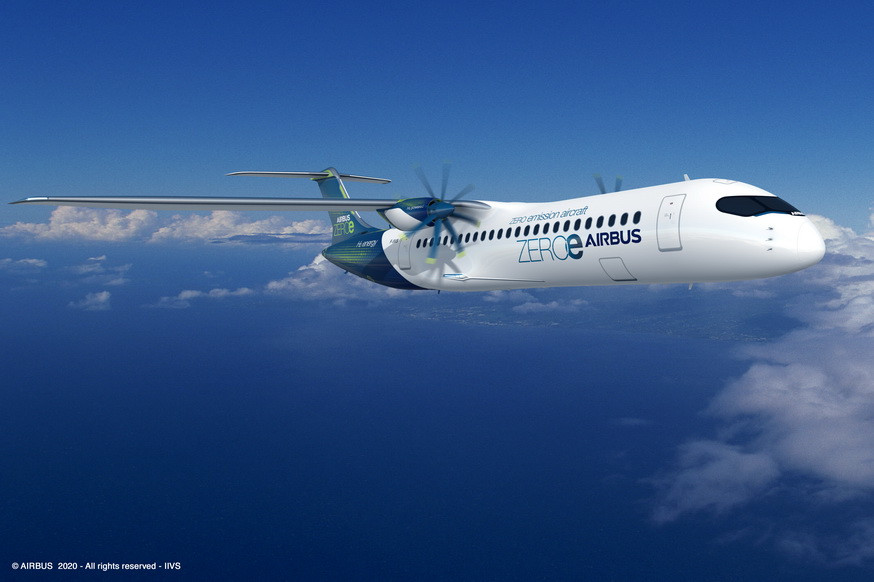 avion zéro émission Airbus - Gate7