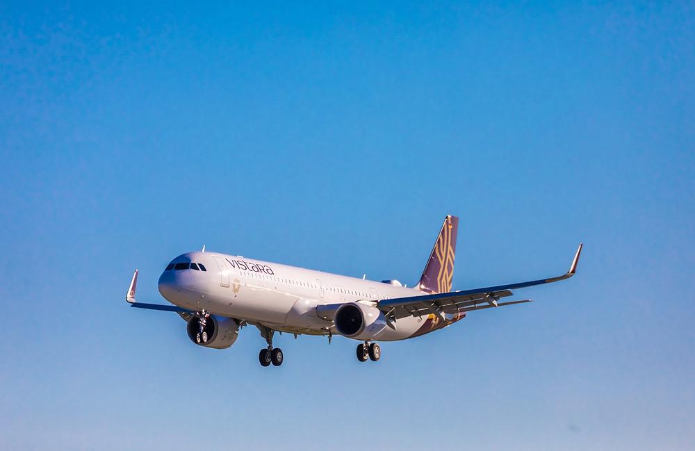 Le premier Airbus A321neo de Vistara en approche Gate7