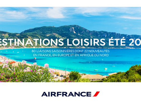 Offensive Estivale pour Air France
