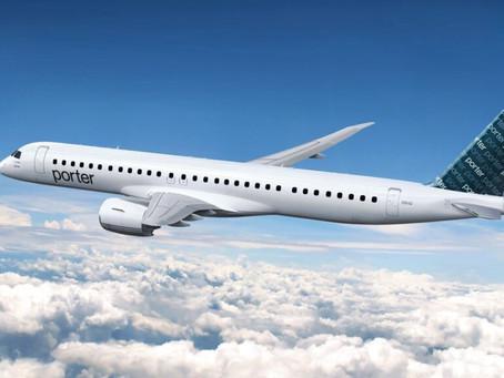 Porter Airlines va s'étendre en amérique du nord grace à l'acquisition de 30 embraer E195-E2.