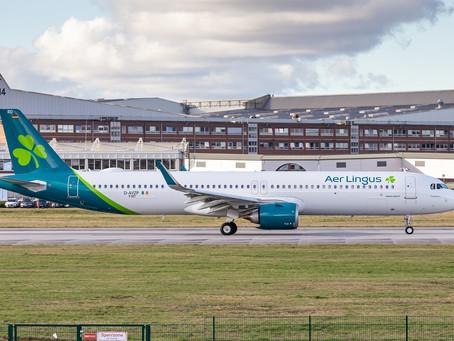 Vols transatlantiques au départ de Manchester pour Aer Lingus. Boston et New-York en A321neo LR