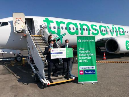 Transavia inaugure ses nouvelles lignes au départ de Montpellier vers Stockholm et Figari !
