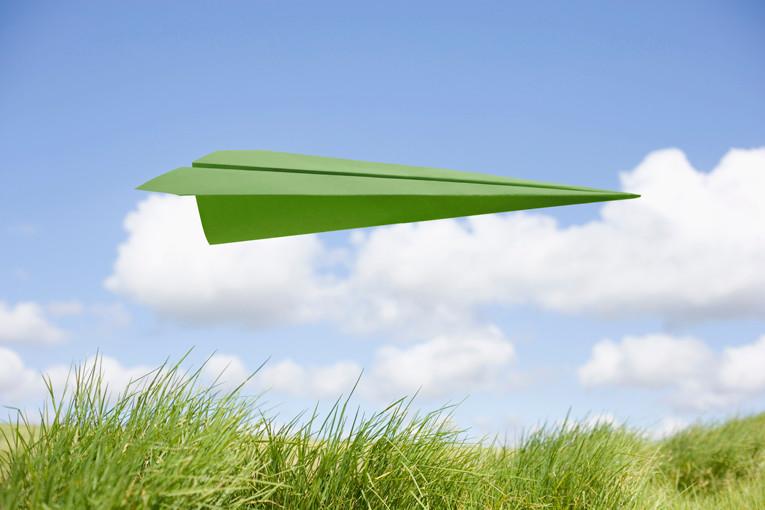 SNPL France ALPHA - Entretien Gate7 - avion papier vert - développement durable empreinte écolgique