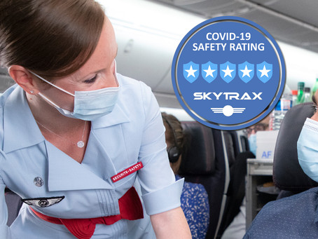 Air France obtient 5 étoiles au classement « Covid-19 safety rating » de Skytrax