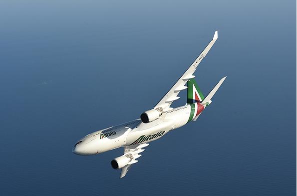 Alitalia A330 in flight Gate7 nationalisation