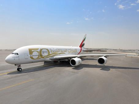 Emirates célèbre le 50e anniversaire des Émirats arabes unis en dévoilant des livrées spéciales.