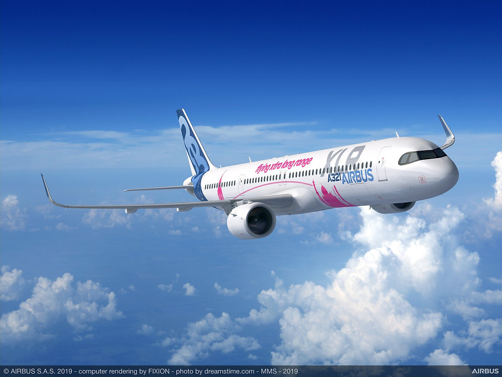 illustration du futur Airbus A321XLR - @airbus - Gate7