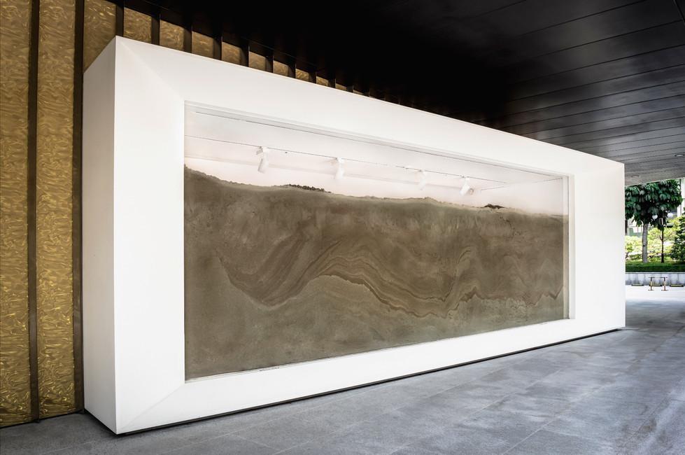 Sandbox, Sub/Ob-Ject, exhibition view Doosan Window Gallery, Seoul 300 x 700cm 2017